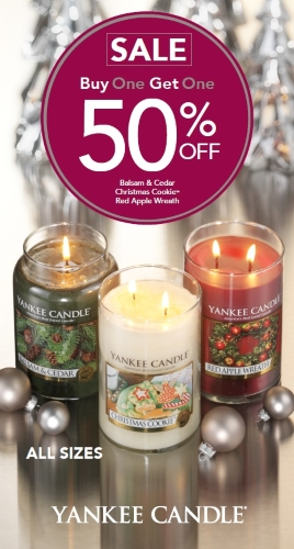 Coupon for: Yankee Candle - BUY ONE, GET ONE 50% OFF