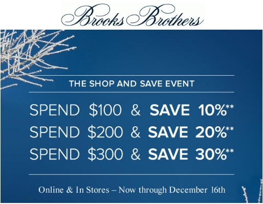 Coupon for: Brooks Brothers, Buy more, save more ...