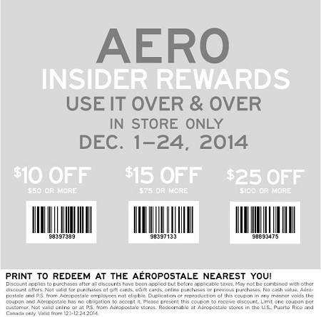 Coupon for: Aéropostale, Spend more, save more