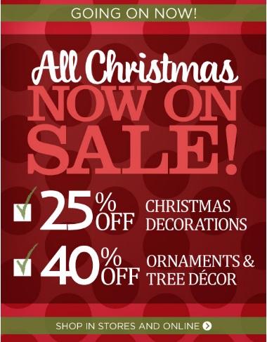 Coupon for: Kirkland's, All Christmas now on SALE
