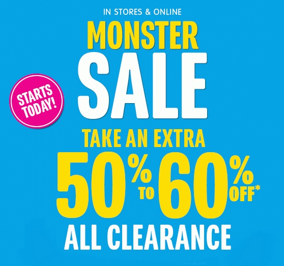 Coupon for: The Children's Place, Monster SALE