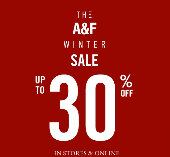 Coupon for: Abercrombie & Fitch, The A&F Winter SALE