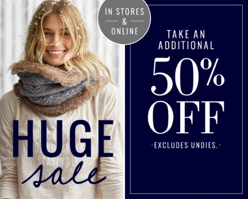 Coupon for: aerie, huge SALE