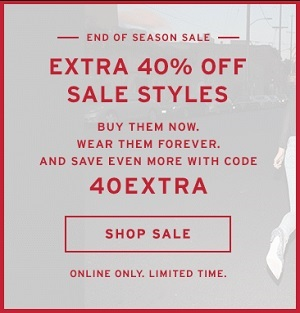 Coupon for: Levi's, End of Season SALE