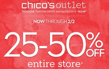 Coupon for: Chico's Outlets, Entire stores on SALE