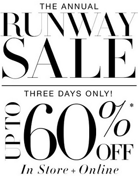 Coupon for: BCBGMAXAZRIA, The Annual Runway SALE
