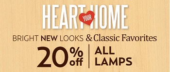 Coupon for: Kirkland's, All lamps with discounts
