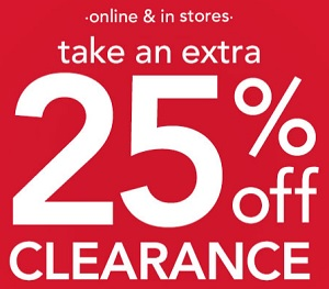 Coupon for: carter's, extra discount on Clearance merchandise