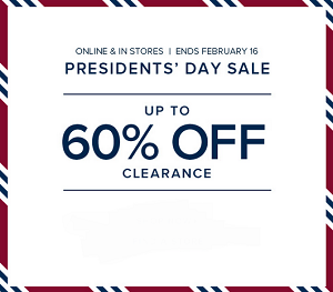 Coupon for: Brooks Brothers, President's Day SALE