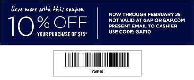 Coupon for: Gap Factory, New Springs arrivals + huge Sale
