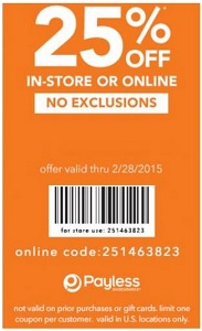 Coupon for: Payless ShoeSource, receive a discount on your purchase