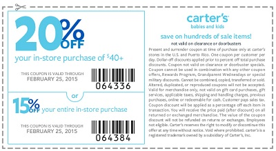 Coupon for: carter's, Shopping with Sale Coupon
