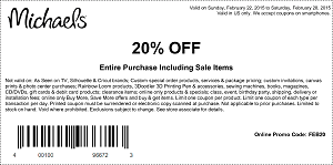 Coupon for: Michaels, Save with coupon