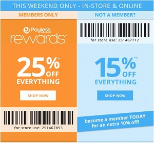 Coupon for: Payless ShoeSource, Possible to get 25% off