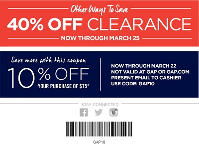 Coupon for: Gap Factory Stores, Other ways to save
