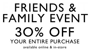 Coupon for: Nine West, Friends & Family sale event