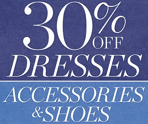 Coupon for: Talbots, 30% off dresses & more