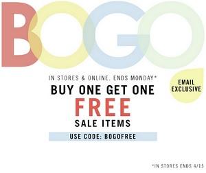 Coupon for: Forever 21, BOGO Sale Offer