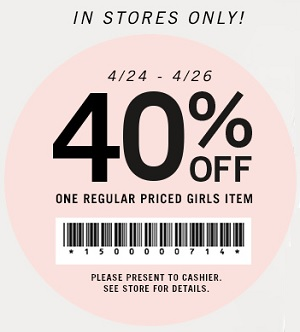 Coupon for: Forever 21, One Girls Item with discount