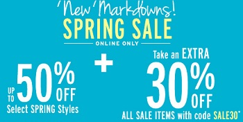Coupon for: G.H. Bass & Co., Spring Sale