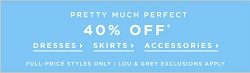 Coupon for: LOFT, Here comes the sun