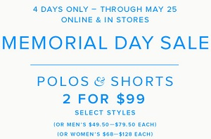 Coupon for: Brooks Brothers, Memorial Day Sale 2015