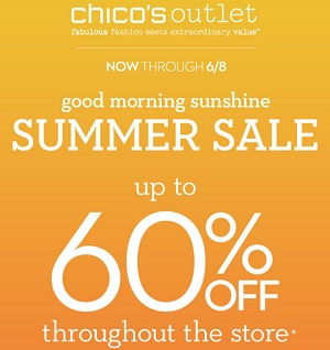 Coupon for: Chico's Outlets, Summer Sale