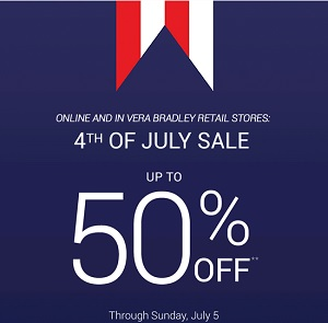 Coupon for: Fourth of July Sale from Vera Bradley
