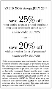 Coupon for: Receive a discount on purchase from dressbarn