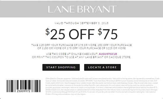 Coupon for: Save with savings coupon at Lane Bryant