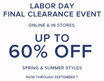 Coupon for: Labor Day Event at Brooks Brothers Stores