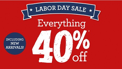 Coupon for: Labor Day Sale at Gymboree stores