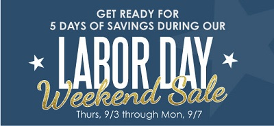 Coupon for: Get ready for Labor Day Weekend Sale from Kirkland's
