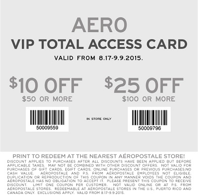 Coupon for: Last day to save with coupon at Aéropostale