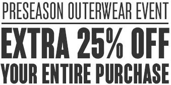 Coupon for: Preseason outerwear event at Eddie Bauer stores