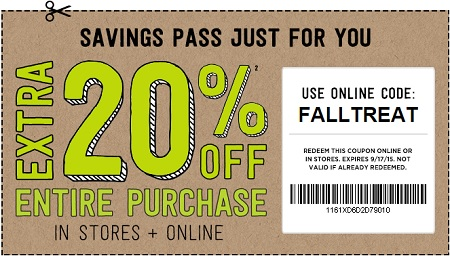Coupon for: Savings pass from Crazy 8