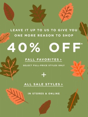 Coupon for: Fall styles on sale at LOFT stores