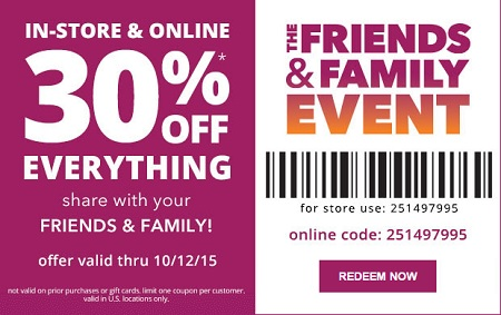 Coupon for: The Friends & Family Event at Payless ShoeSource
