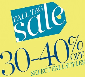 Coupon for: Fall tag sale at Talbots retail stores