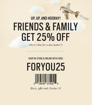 Coupon for: Friends & Family Deal from Fossil