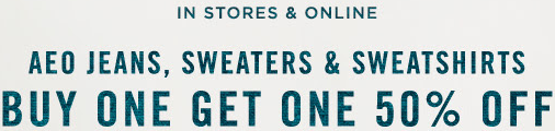 Coupon for: BOGO sale from American Eagle Outfitters