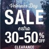 Coupon for: Veteran's Day Sale 2015 at Tilly's