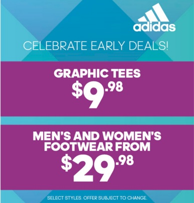 Coupon for: Celebrate Early Deals at adidas Outlet Stores