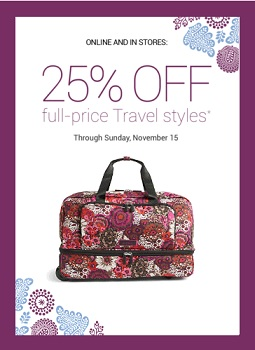 Coupon for: Travel styles on sale at Vera Bradley