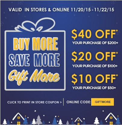 Coupon for: Pre-Black Friday Sale 2015 at Kirkland's