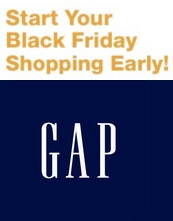 Coupon for: Early Access to Gap Black Friday sale