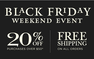 Coupon for: Black Friday Weekend Sale 2015 at Crabtree & Evelyn