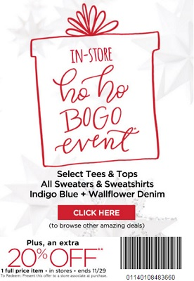Coupon for: Shop big BOGO Event at Motherhood Maternity