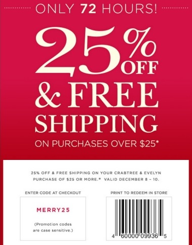 Coupon for: Shopping with printable coupon at Crabtree & Evelyn
