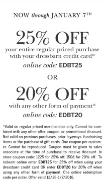 Coupon for: 2 ways to save at dressbarn